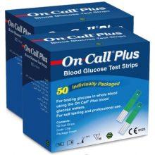 نوار تست قند خون آنکال پلاس مدل G133-115 بسته 50 عددی به همراه سوزن تست قند