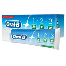 خمیر دندان اورال بی مدل Oral-B 1-2-3 حجم 100 میلی لیتر