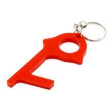 جا کلیدی ضد کرونا مدل Covid Key به همراه پد الکلی – قرمز